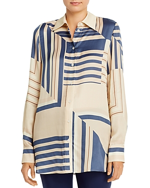 Lafayette 148 New York Michelle Printed Blouse