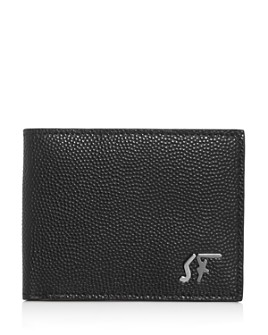 Salvatore Ferragamo - Signature Logo Pebbled Leather Bi-Fold Wallet