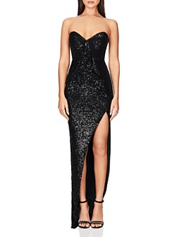 Nookie - Galaxy Strapless Sequined Gown