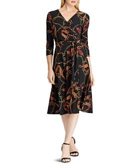 Ralph Lauren - Printed Jersey Faux-Wrap Dress