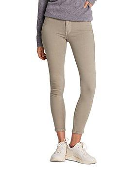 Hudson - Barbara High-Rise Crop Super-Skinny Jeans in Laurel