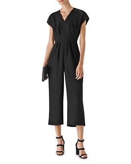 Whistles - Mia Satin-Paneled Jumpsuit