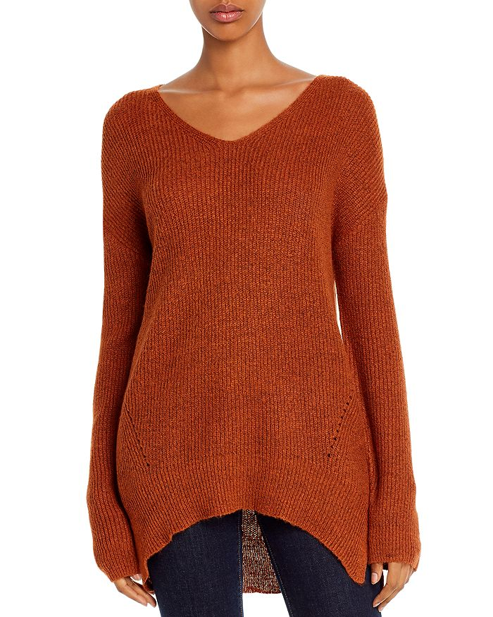 Alison Andrews Strappy Cutout Relaxed Top In Spiced Cinnamon