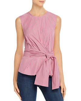 Derek Lam 10 Crosby - Striped Tie-Waist Top
