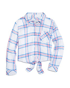Rails - Girls' Valeria Plaid Tie-Front Shirt - Little Kid, Big Kid