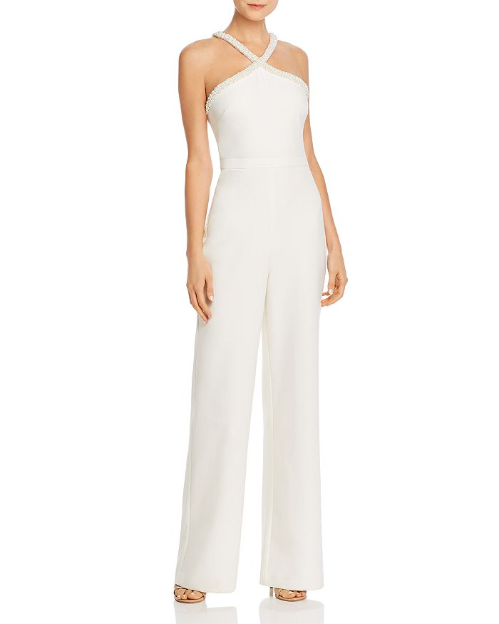 LIKELY - Ashland Simulated Pearl-Trimmed Jumpsuit