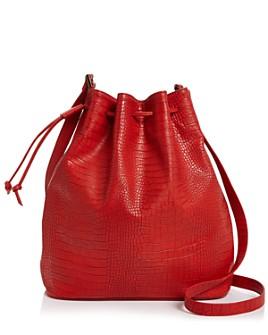 AQUA - Croc-Embossed Bucket Bag - 100% Exclusive