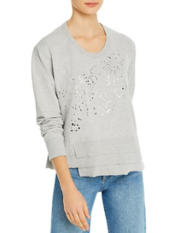 Wilt - Metallic Splatter Asymmetric Sweatshirt