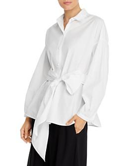 Weekend Max Mara - Liana Self-Tie Cotton Shirt
