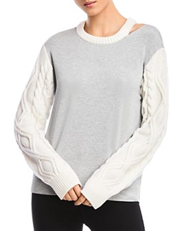 Bailey 44 - Margo Cable-Knit-Sleeve Top