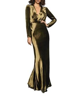 REISS - Klara Plunging Velvet Gown