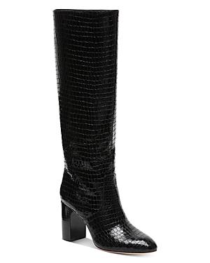 Loeffler Randall Women's Goldy Croc-Embossed Tall Boots