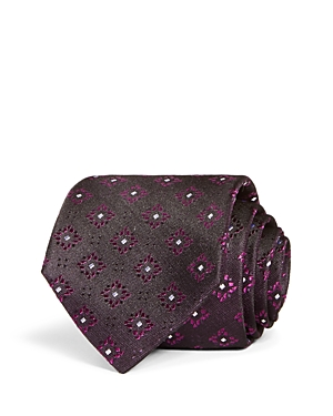 The Men's Store at Bloomingdale's Square Medallion Woven Silk Classic Tie - 100% Exclusive
