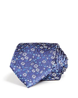 The Men's Store at Bloomingdale's - Floral Woven Silk Classic Tie - 100% Exclusive