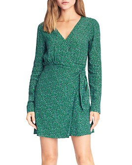 Sanctuary - Micro Leopard Printed Wrap Dress