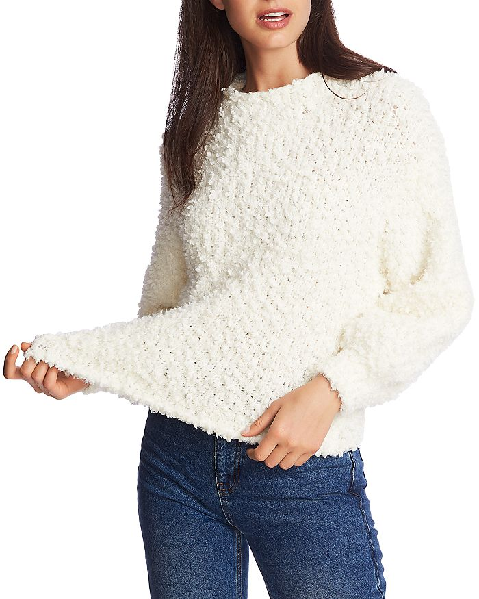 1.STATE - Textured Knit Sweater