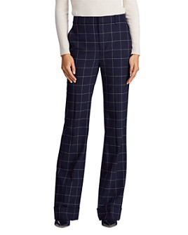 Ralph Lauren - Windowpane Check Wide Leg Pants