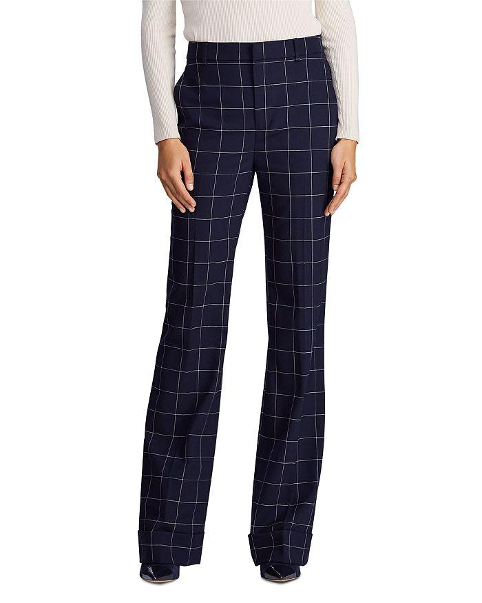 Ralph Lauren - Windowpane Check Wide Leg Pants