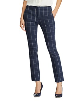 Ralph Lauren - Windowpane Check Straight Leg Pants