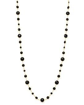 "IPPOLITA - 18K Yellow Gold Lollipop® Lollitini Onyx Statement Necklace, 36"""