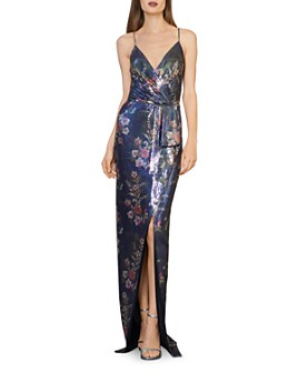 ML Monique Lhuillier - Sequined Floral Gown