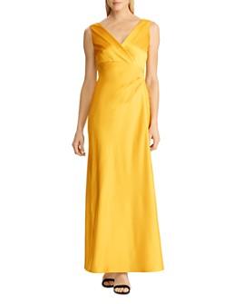 Ralph Lauren - Crossover Satin Gown