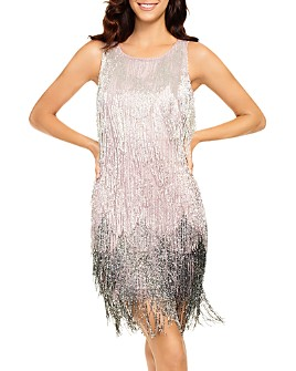 Aidan Mattox - Ombré Beaded Fringed Dress