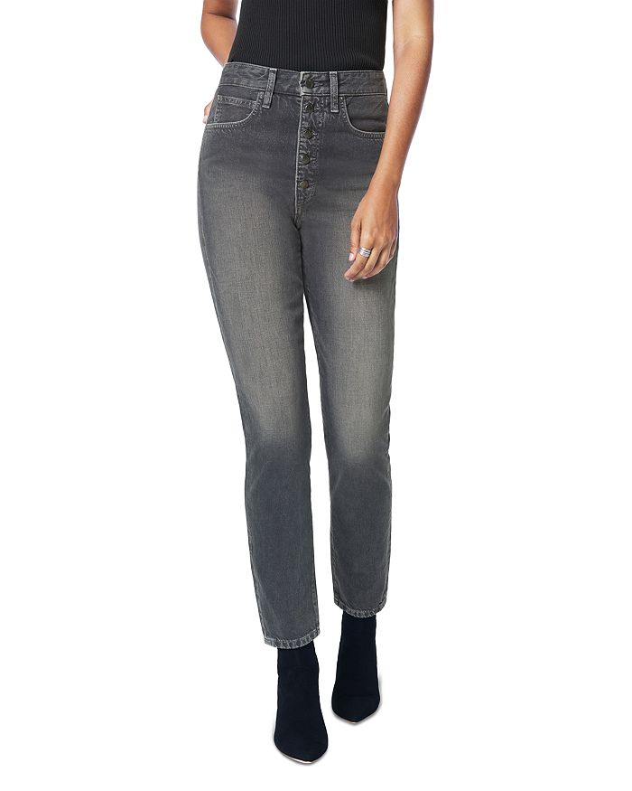 Joe's Jeans - x WeWoreWhat The Danielle High-Rise Vintage Straight Jeans in Gray