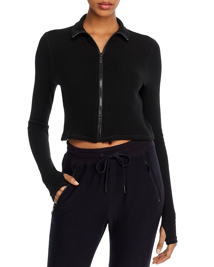 ALALA - Rise Zip-Front Cropped Top