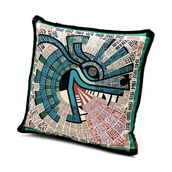 "Missoni - Dragon Decorative Pillow, 16"" x 16"""