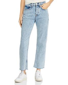 rag & bone - Maya High-Rise Ankle Straight-Leg Jeans in Glen Oaks
