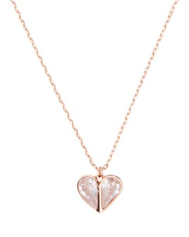 kate spade new york - Rock Solid Stone Heart Mini Pendant Necklace, 17""