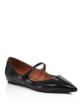 Tabitha Simmons - Women's Hermione Snake-Embossed Flats