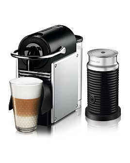 Nespresso - Pixie Espresso Machine by De'Longhi with Aeroccino Milk Frother