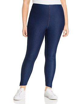 Lyssé Plus - Step-Hem Denim Leggings with Piped Trim