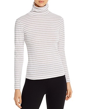 Three Dots Breckenridge Striped Turtleneck Tee