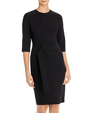 Black Halo Emma Belted Dress
