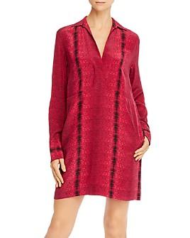 Equipment - Riannon Printed Silk Dress