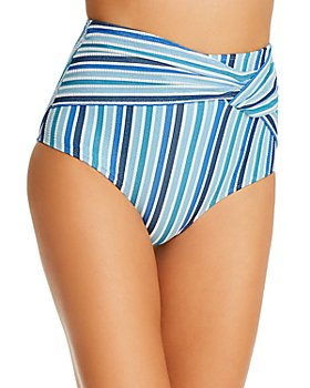 Jonathan Simkhai - Metallic-Detail High-Waist Bikini Bottom