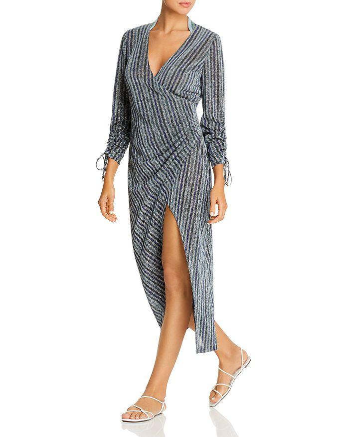 Jonathan Simkhai - Sparkle-Stripe Dress Swim Cover-Up