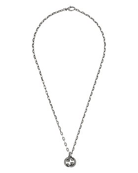 Gucci - Sterling Silver Interlocking G Necklace, 19.7""