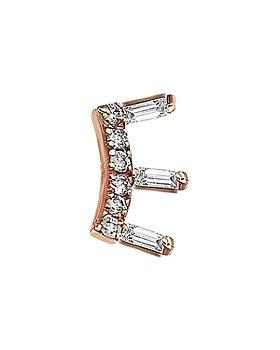 Kismet By Milka - 14K Rose Gold Diamond Ladder Earring
