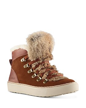 Cougar - Women's Dani Waterproof Fur Trim High-Top Sneakers