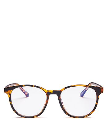 Quay - Women's Blueprint Round Blue Light Glasses, 49mm