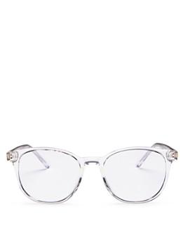 Quay - Women's Blueprint Round Blue Light Glasses, 49mm