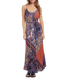 Karen Kane - Cami Scarf-Print Maxi Dress