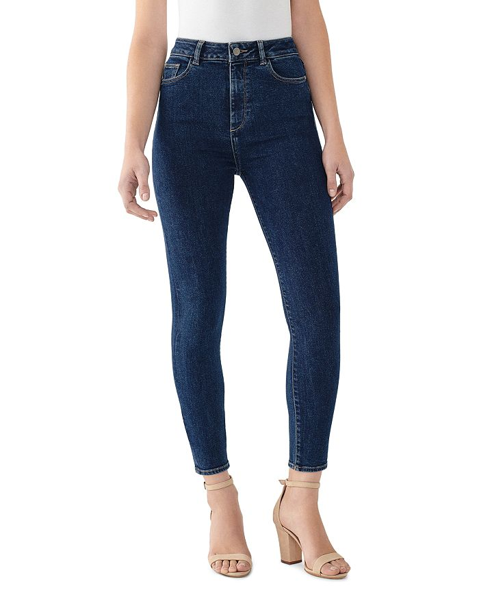 Dl DL1961 CHRISSY CROPPED ULTRA-SKINNY JEANS IN PRUSSIA