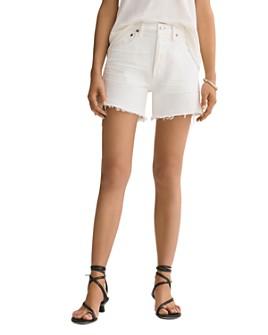 AGOLDE - Parker Denim Shorts in Tissue
