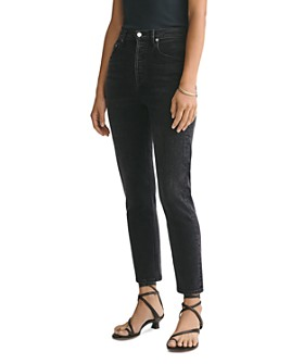 AGOLDE - Riley High-Rise Ankle Straight Jeans in Black Pepper