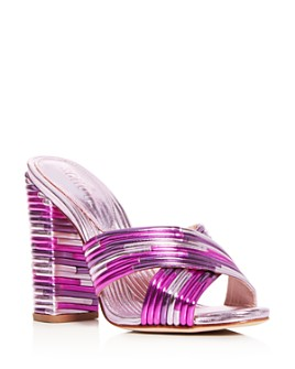 SCHUTZ - Women's Emma Dale Criss-Cross Quilted Slide Sandals